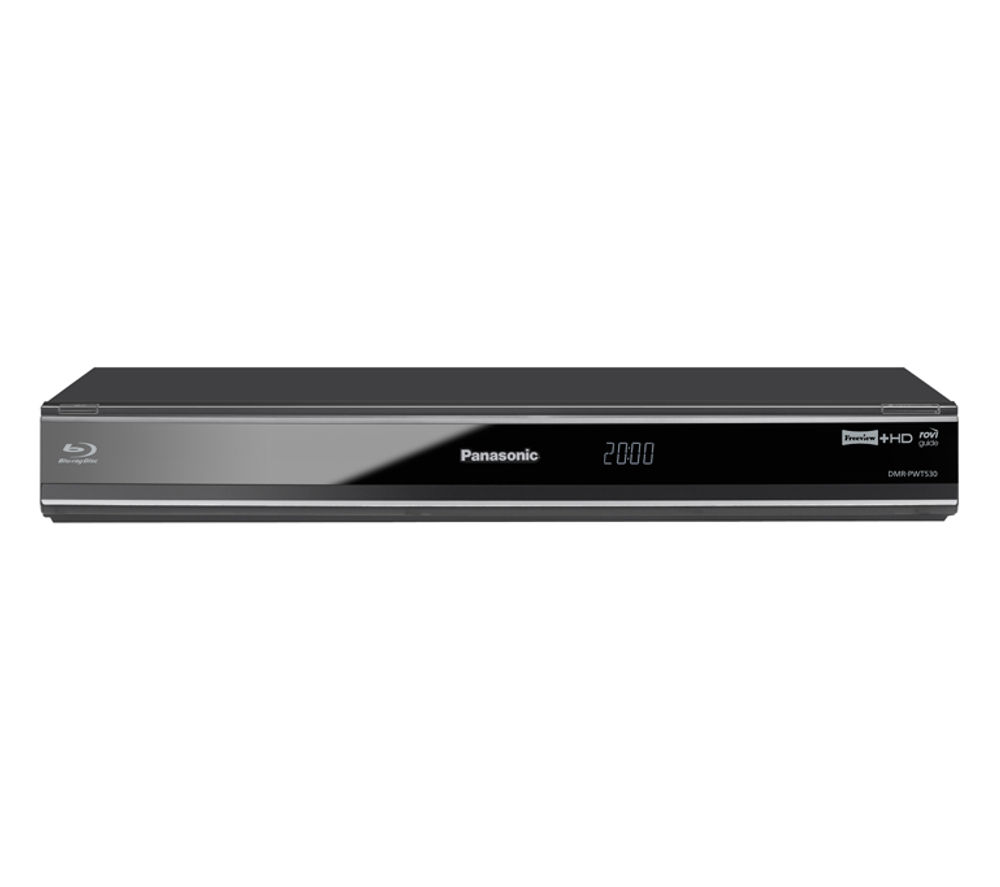 PANASONIC DMR-PWT530EB Smart 3D Blu-ray Player with Freeview+ HD Recorder - 500 GB HDD