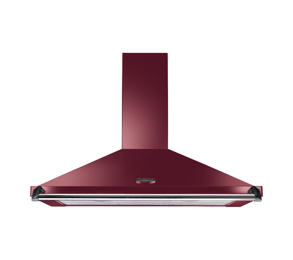 RANGEMASTER Classic CLAHDC100CY/C Chimney Cooker Hood - Cranberry & Chrome