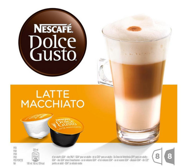 buy nescafe dolce gusto latte macchiato pack of 8 free delivery currys. Black Bedroom Furniture Sets. Home Design Ideas