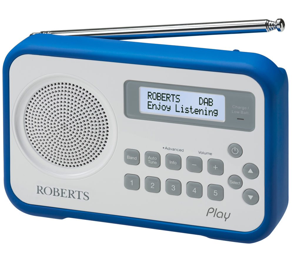 Click to view more of ROBERTS  Play Portable DAB Radio - White & Blue, White & Blue