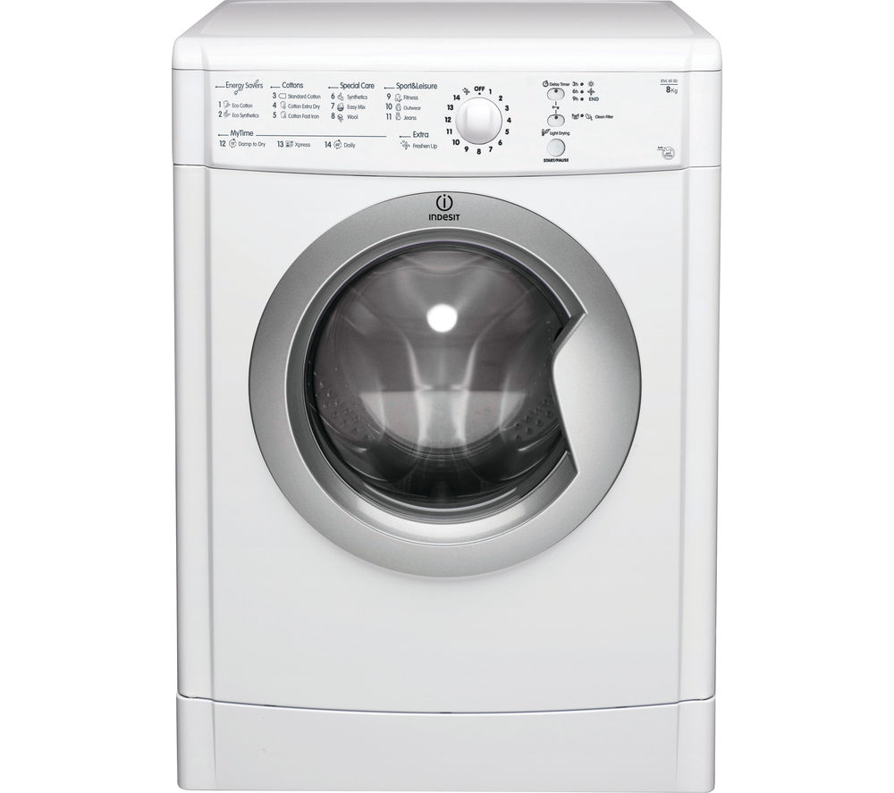 INDESIT  IDVL85 Vented Tumble Dryer - White +  DFS05X10W Slimline Dishwasher - White