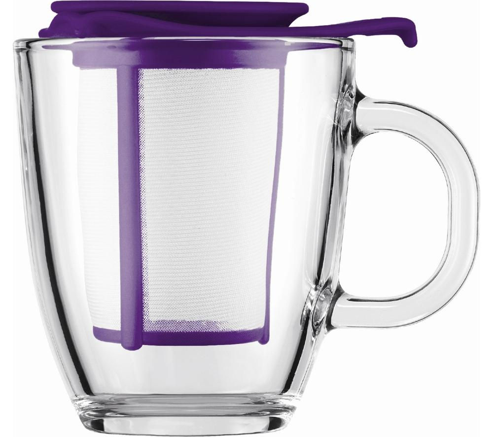 BODUM Yo Yo Mug & Tea Strainer Set  Purple  Free Delivery  Currys
