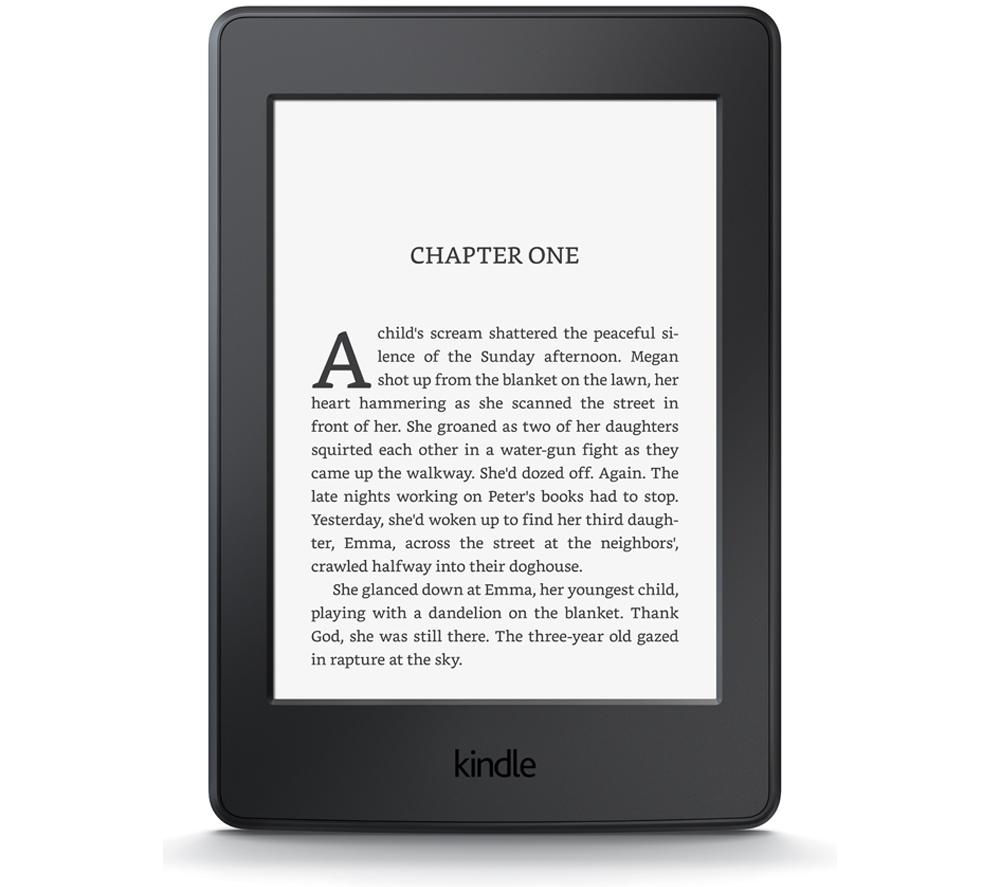 AMAZON  Kindle Paperwhite eReader +  53-000503 Kindle Paperwhite Leather Cover - Black