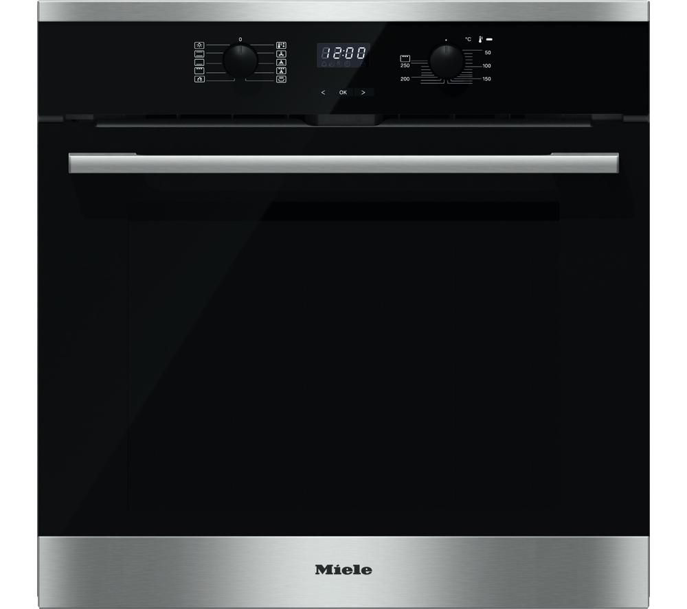 buy miele h2561bp electric single oven black steel. Black Bedroom Furniture Sets. Home Design Ideas