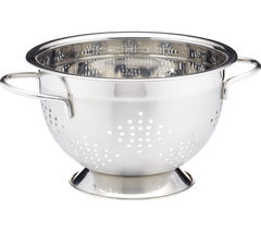 MASTER CLASS 23 cm Deluxe Two Handled Colander - Stainless Steel