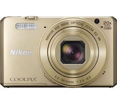 NIKON COOLPIX S7000 Superzoom Compact Camera - Gold