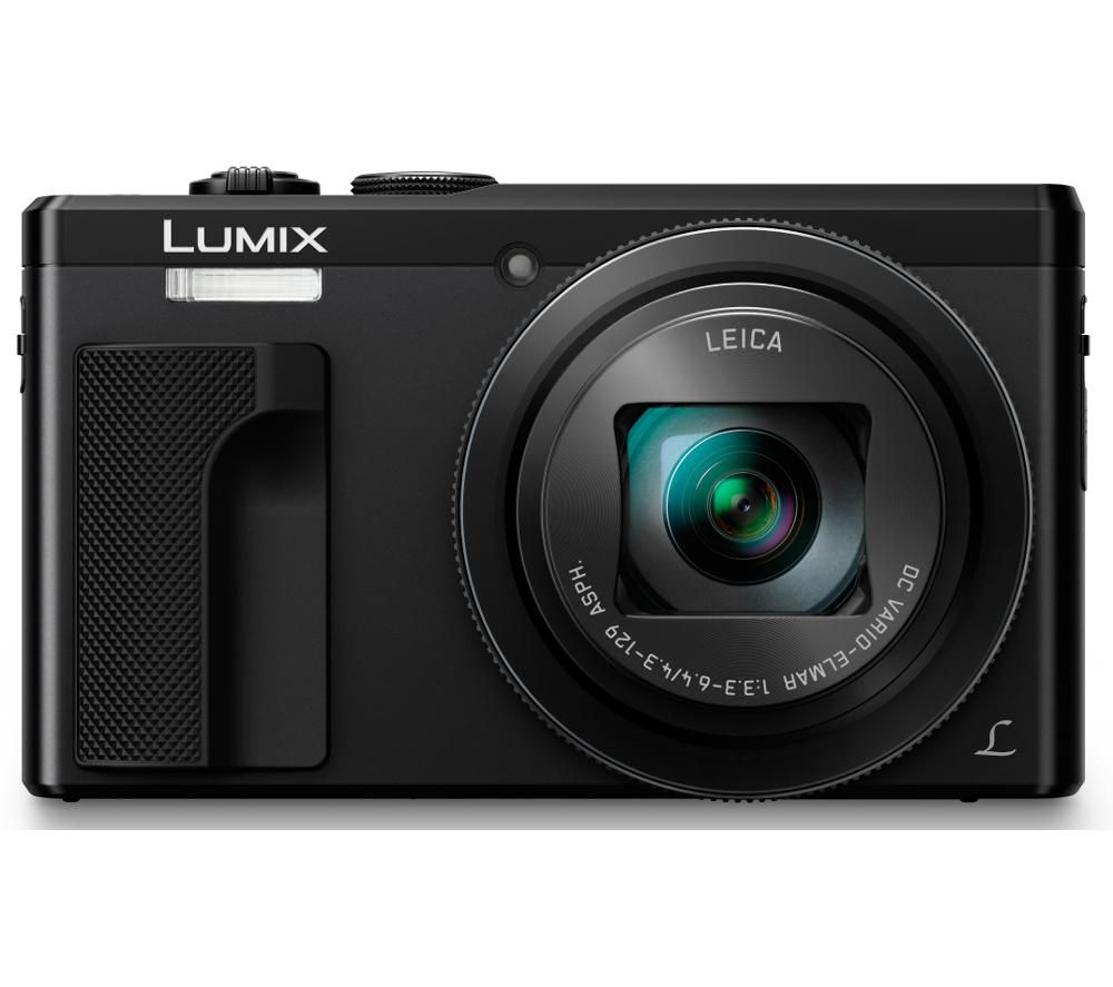 PANASONIC Lumix DMC-TZ80EB-K Superzoom Compact Camera - Black + Extreme Plus Class 10 SD Memory Card Twin Pack - 16 GB