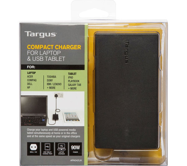 Image of TARGUS AC Compact Universal USB Laptop & Tablet Charger