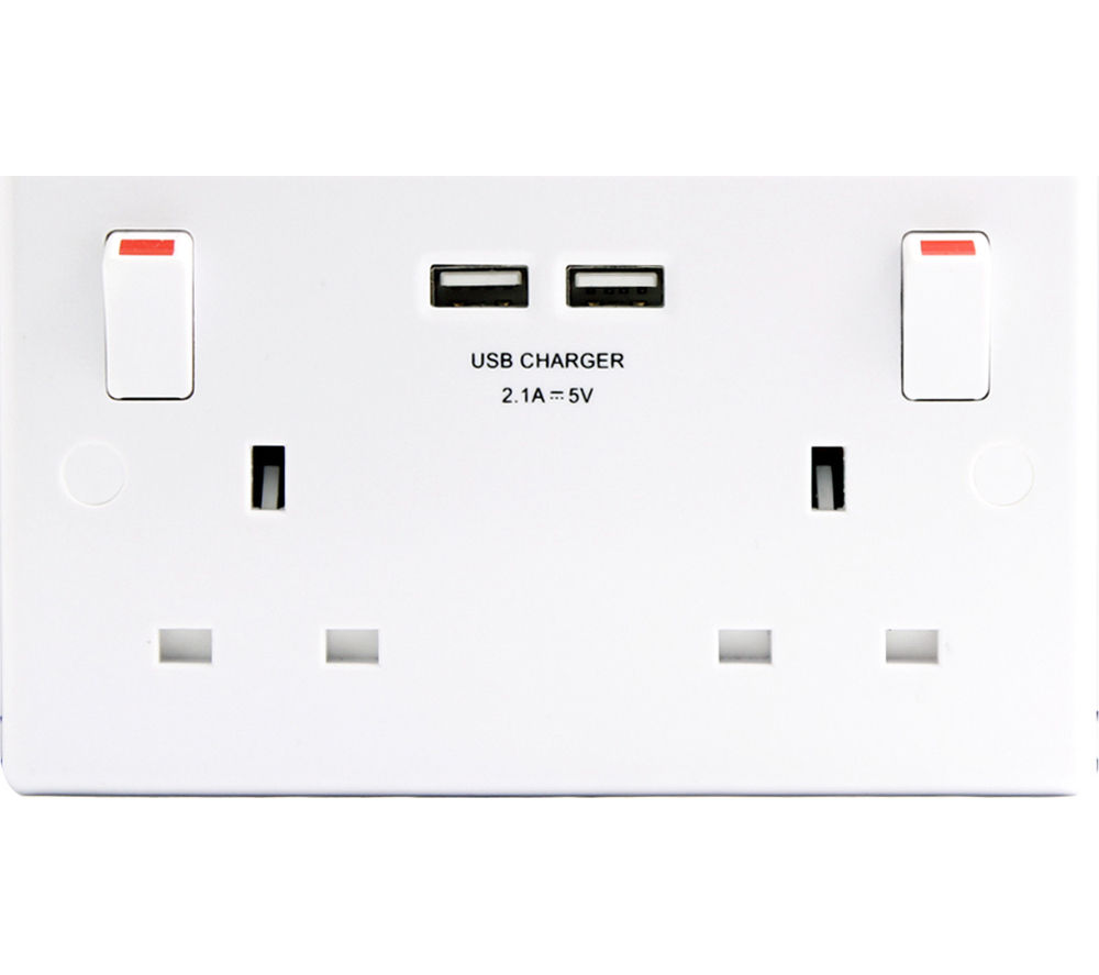 MASTERPLUG 322U-MP 2-Socket Plug Adapter with USB