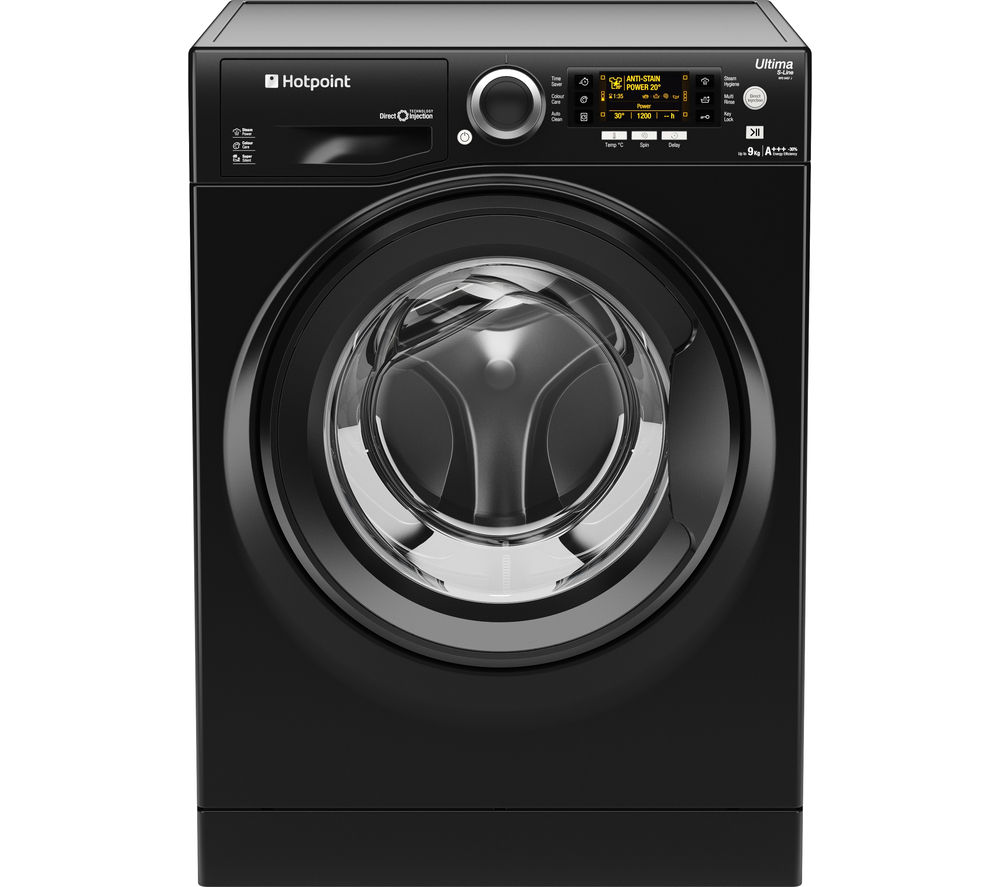 HOTPOINT  Ultima Sline RPD10457JKK Washing Machine  Black Black