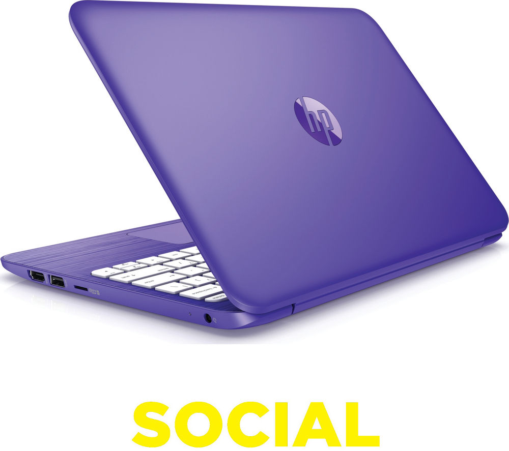 "Image of HP Stream 11-r051na 11.6"" Laptop - Purple"