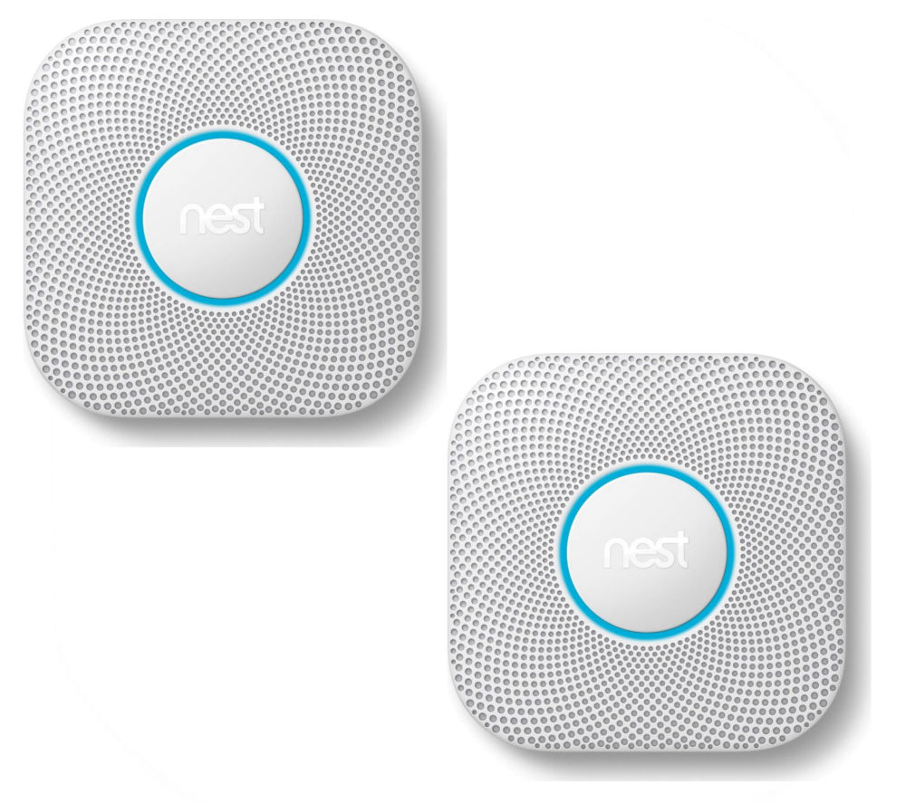 NEST Protect 2nd Generation Smoke with Carbon Monoxide Alarm - Hard Wired Bundle, Twin Pack