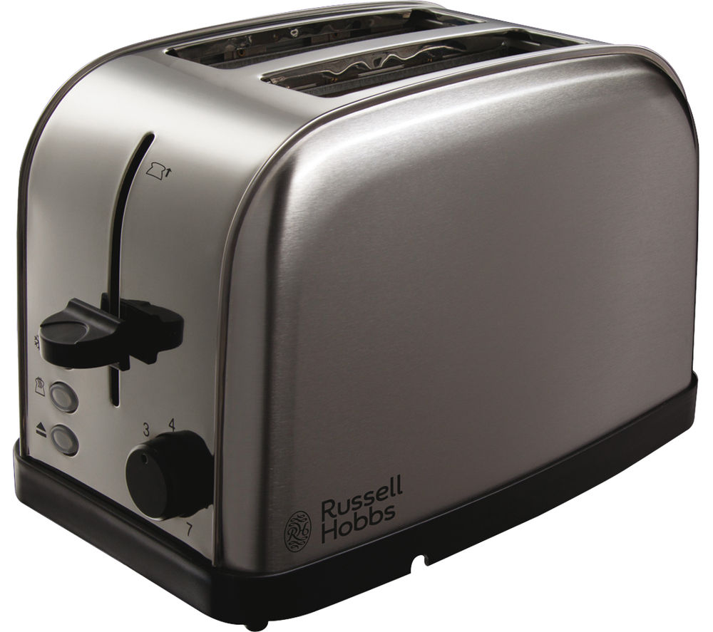 buy russell hobbs futura 18780 2 slice toaster brushed steel free delivery currys. Black Bedroom Furniture Sets. Home Design Ideas