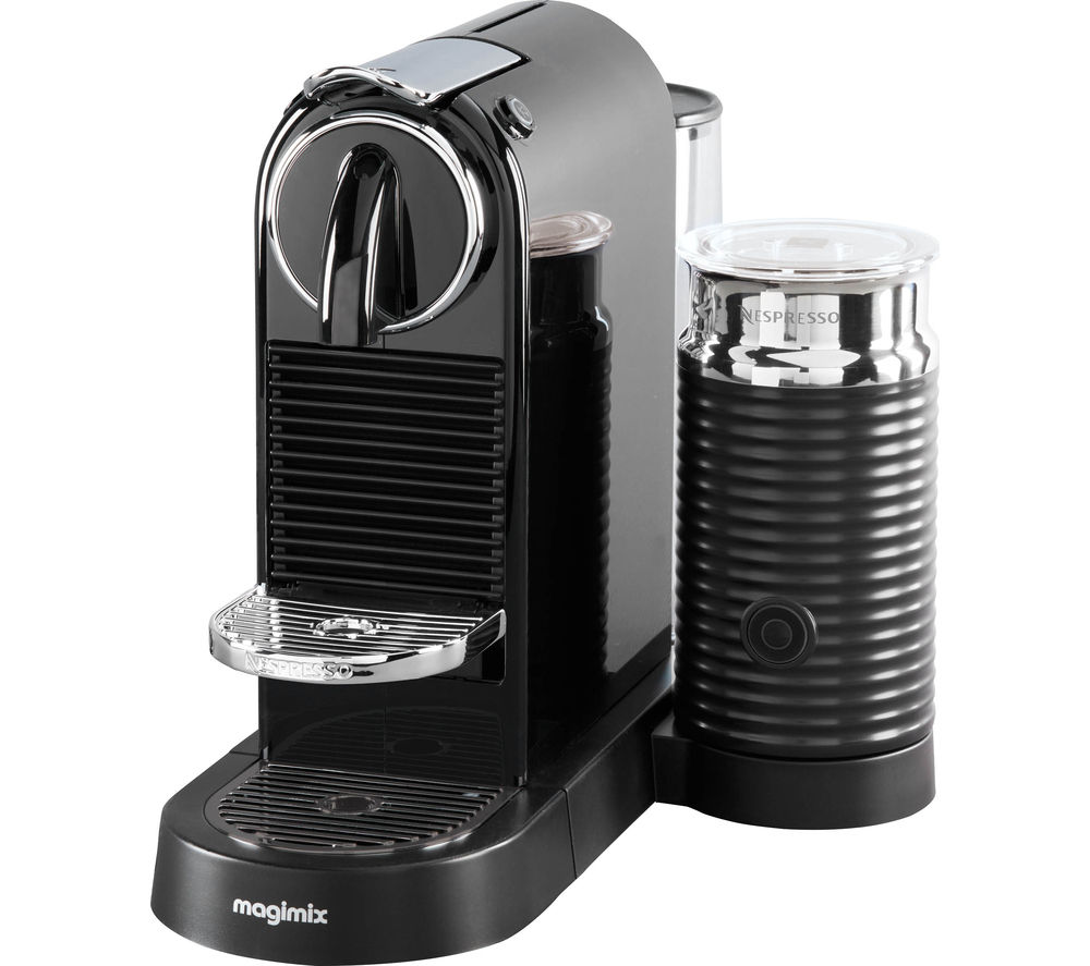 buy nespresso by magimix citiz milk coffee machine black free delivery currys. Black Bedroom Furniture Sets. Home Design Ideas
