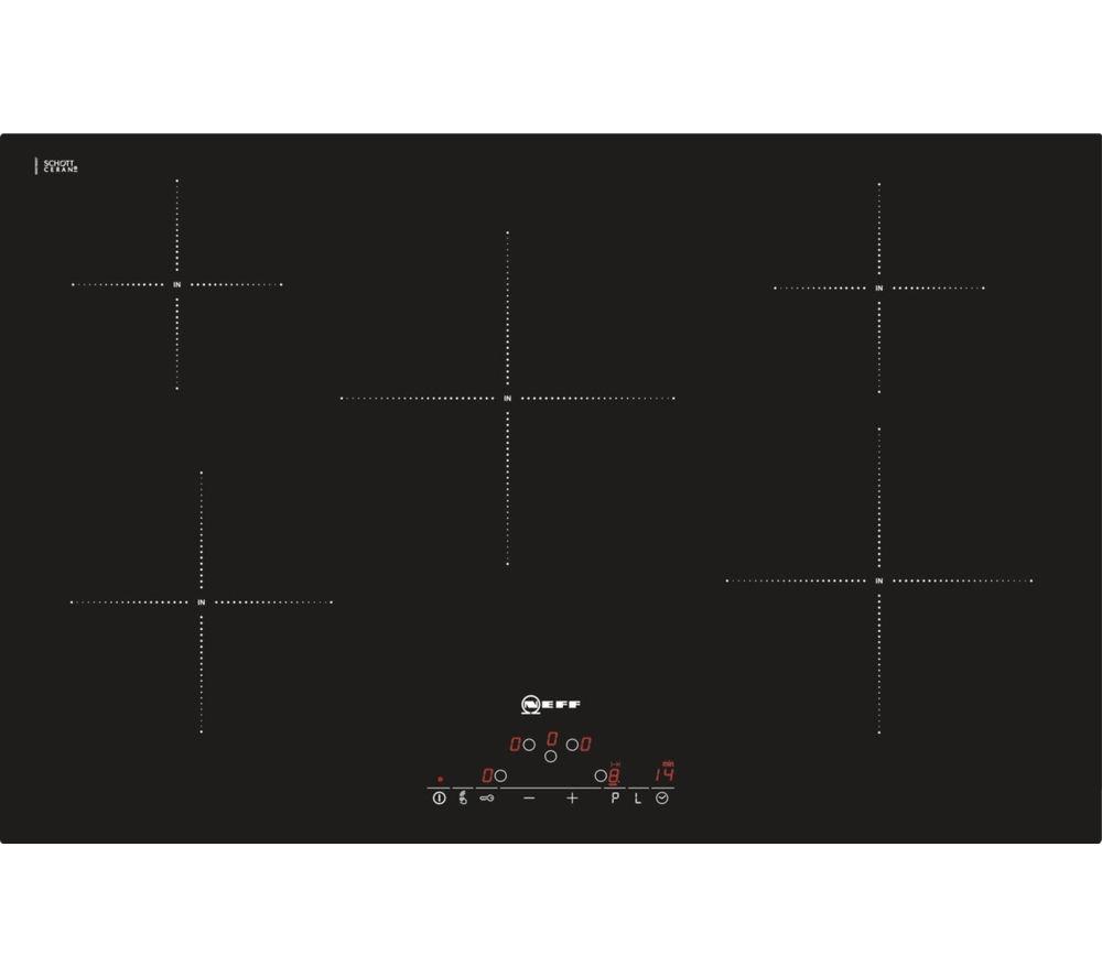 buy neff t45d82x2 electric induction hob black free. Black Bedroom Furniture Sets. Home Design Ideas