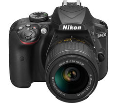 NIKON D3400 DSLR Camera with 18-55 mm f/3.5-5.6 VR Zoom Lens - Black