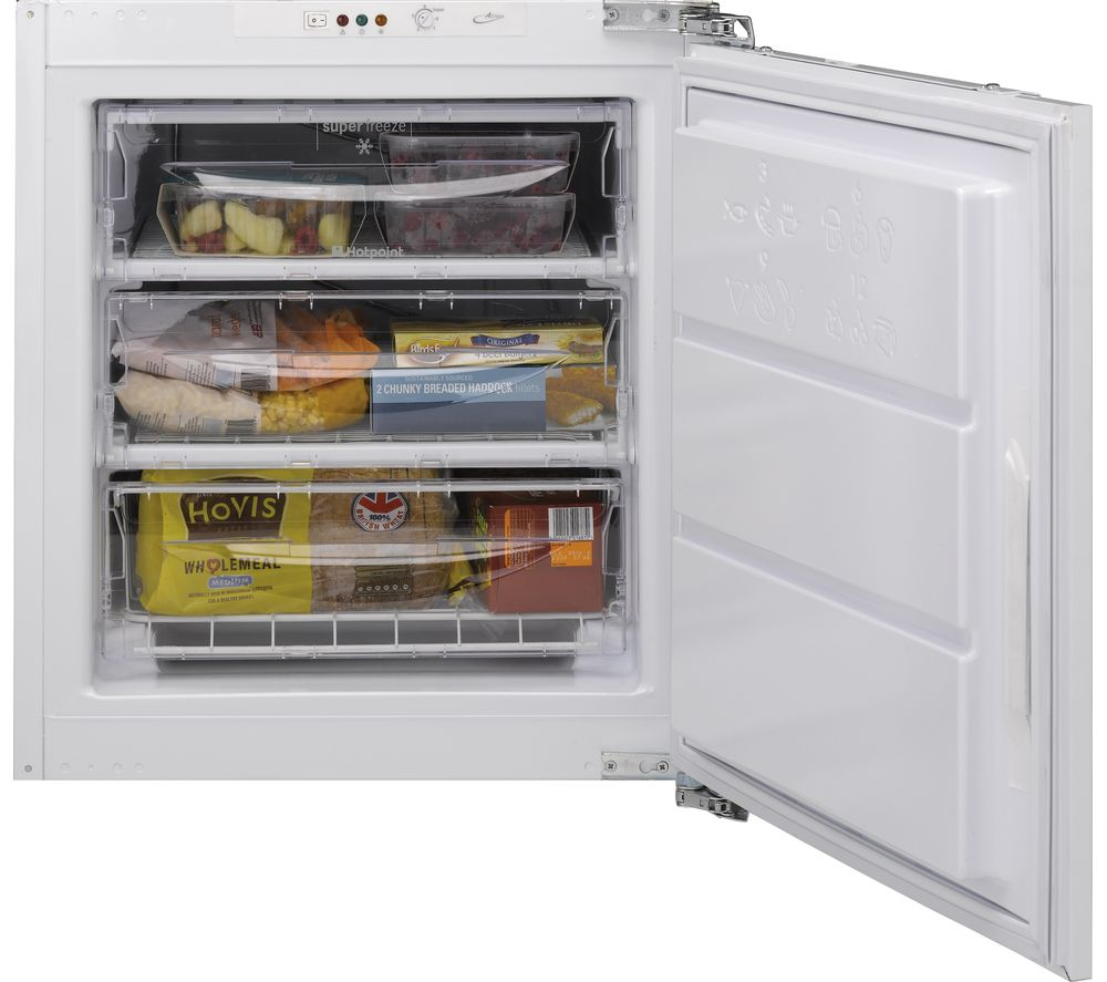 HOTPOINT  HZ A1 Integrated Undercounter Freezer  White White