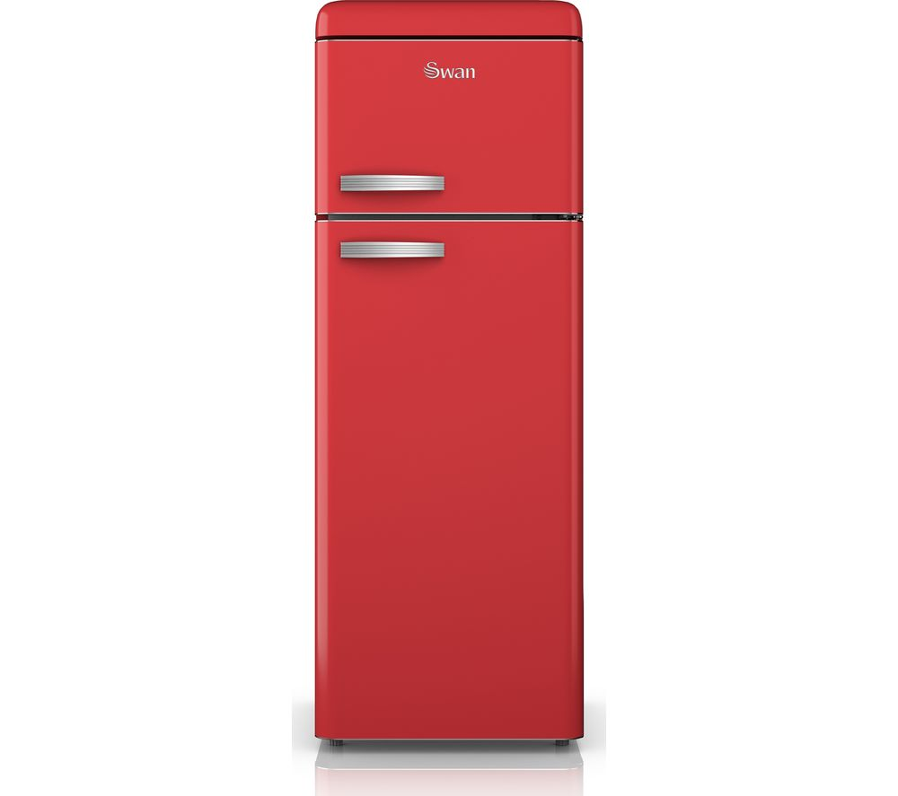 SWAN  SR11010RN Fridge Freezer  Red Red