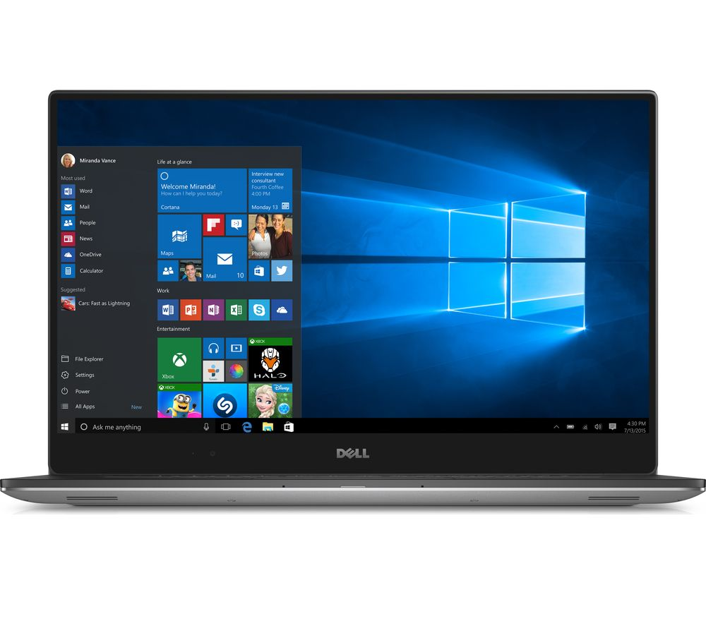 "DELL XPS 15 15.6"" Laptop - Silver + Office 365 Personal + LiveSafe Unlimited 2017 - 1 year"