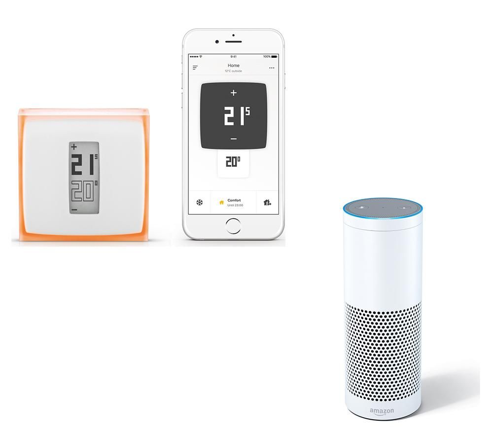 Amazon Echo with Netatmo Thermostat Bundle