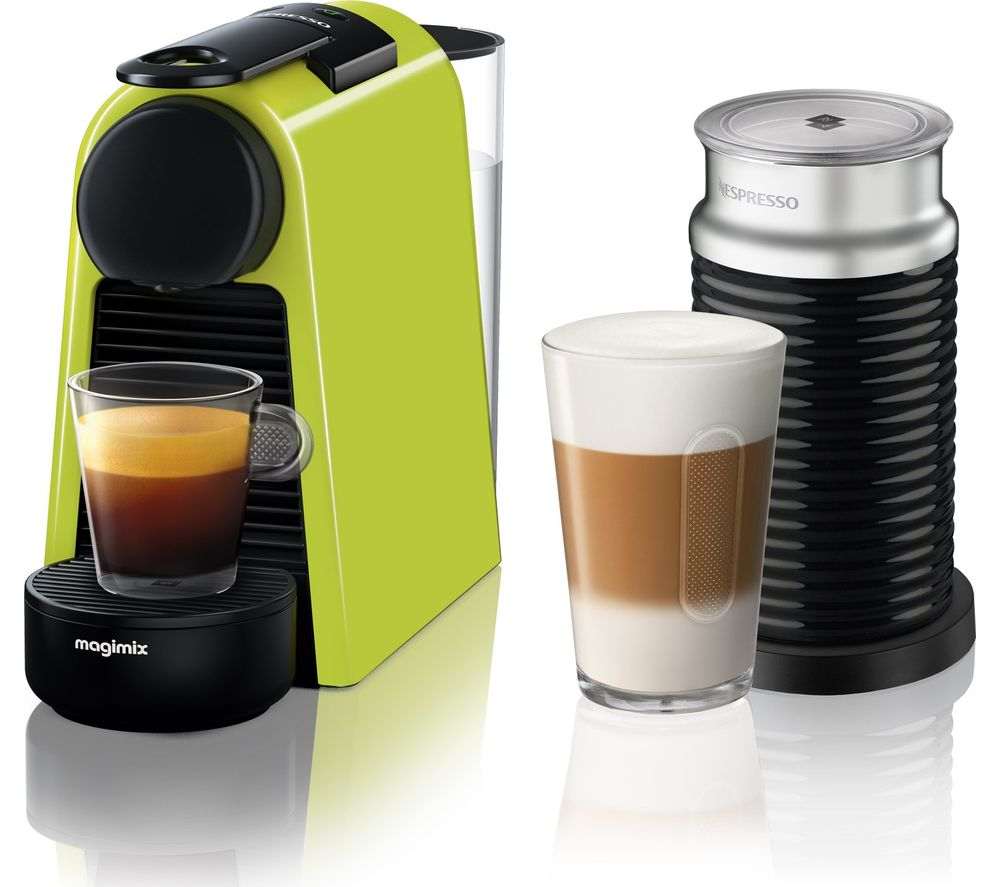 NESPRESSO by Magimix Essenza Mini Coffee Machine with Aeroccino  Lime Green Lime