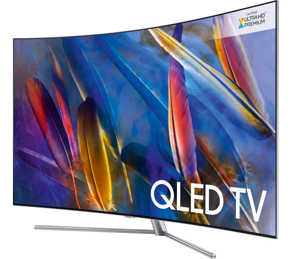 55  SAMSUNG QE55Q7CAMT  Smart 4K Ultra HD HDR Curved Q LED TV