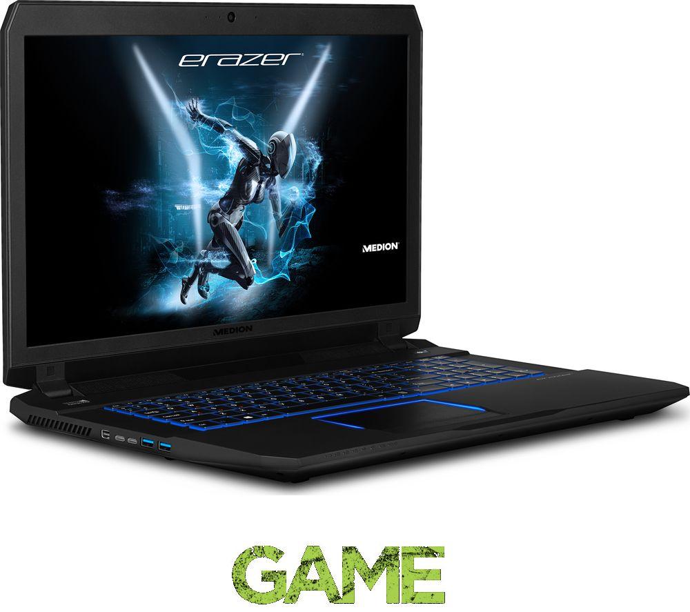 """MEDION ERAZER X7853 17.3"""" Gaming Laptop - Black"""