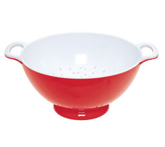 COLOURWORKS Large 24 cm Colander - Red & White