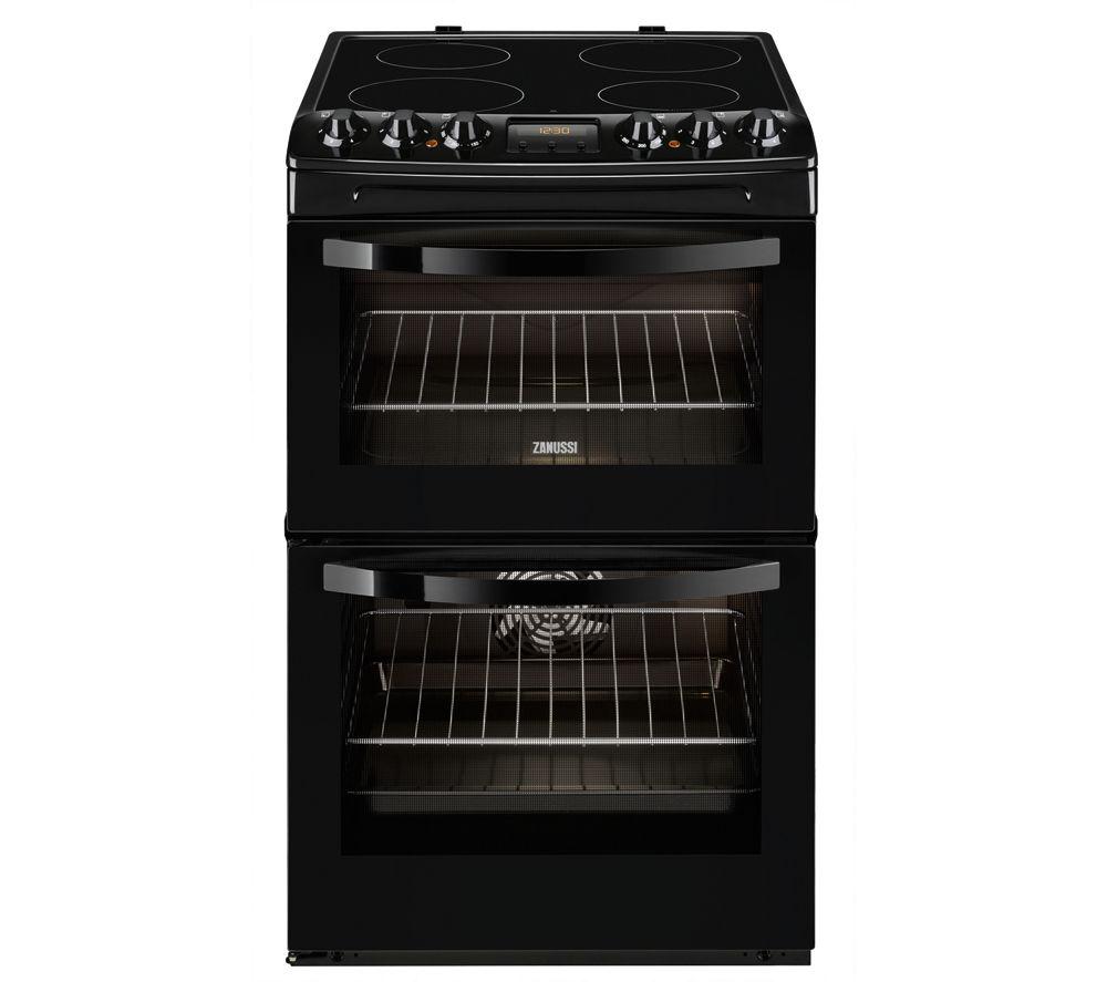 ZANUSSI ZCV46330BA Electric Ceramic Cooker - Black