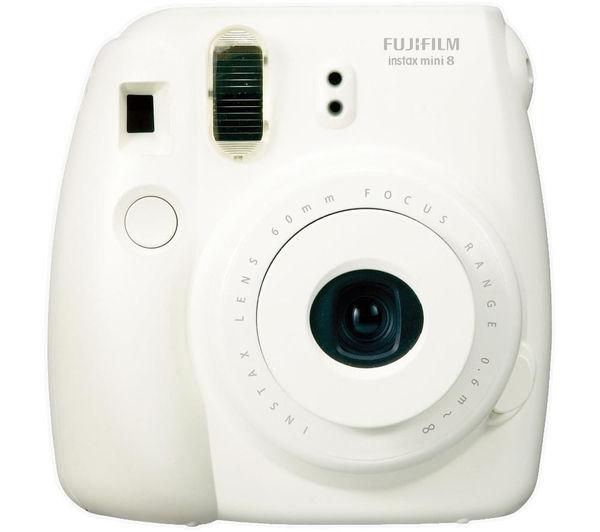 Buy FUJIFILM Instax Mini 8 Instant Camera & 10 Shot Bundle - White ...