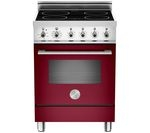 BERTAZZONI Professional 60 X60INDMFEVI Electric Induction Cooker - Burgundy