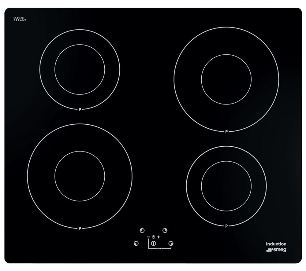 Smeg SI642D2 Electric Induction Hob - Black, Black