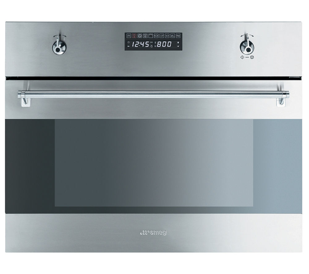 Image of Smeg Classic S45VCX2 Compact Electric Steam Oven - Stainless Steel, Stainless Steel