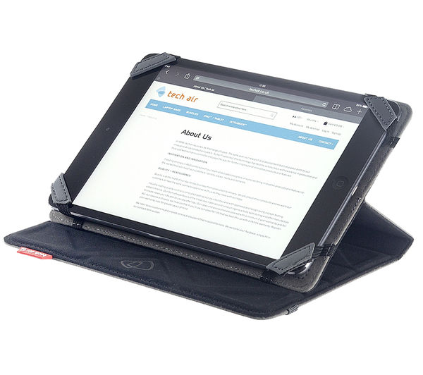 "Image of TECHAIR TAXUT018 Folio Flip & Reverse 7"" Tablet Case - Black & Grey"
