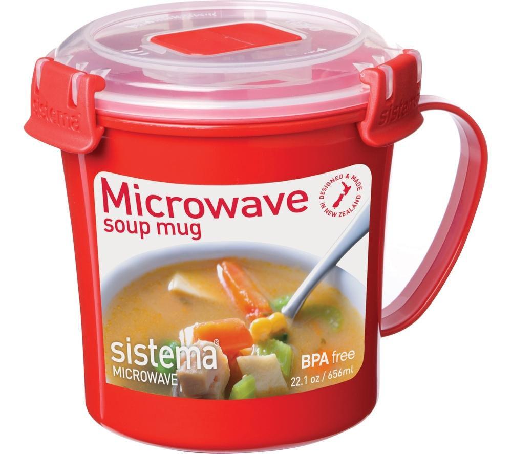 SISTEMA 656ml Microwave Soup Mug