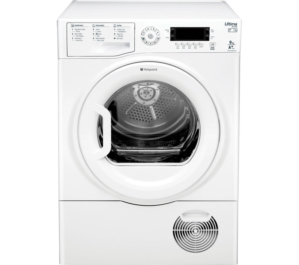 Image of Hotpoint Ultima S-line SUTCDGREEN9A1 Heat Pump Tumble Dryer - White, White