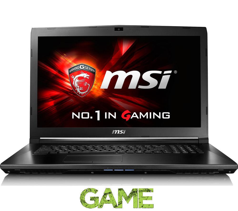 "MSI  GL72 6QD 022UK 17.3"" Gaming Laptop - Black +  LiveSafe Unlimited 2016"