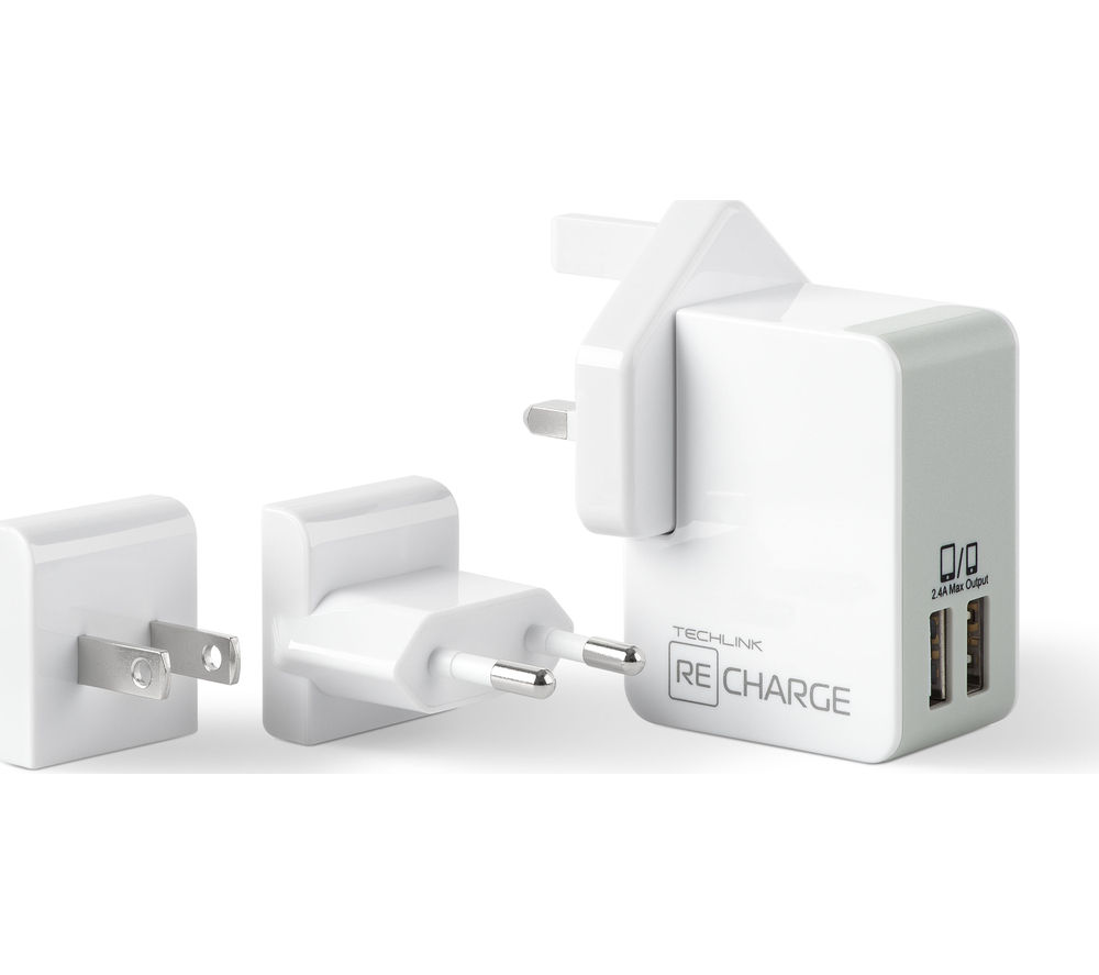 TECHLINK 527019 Universal USB Travel Charger
