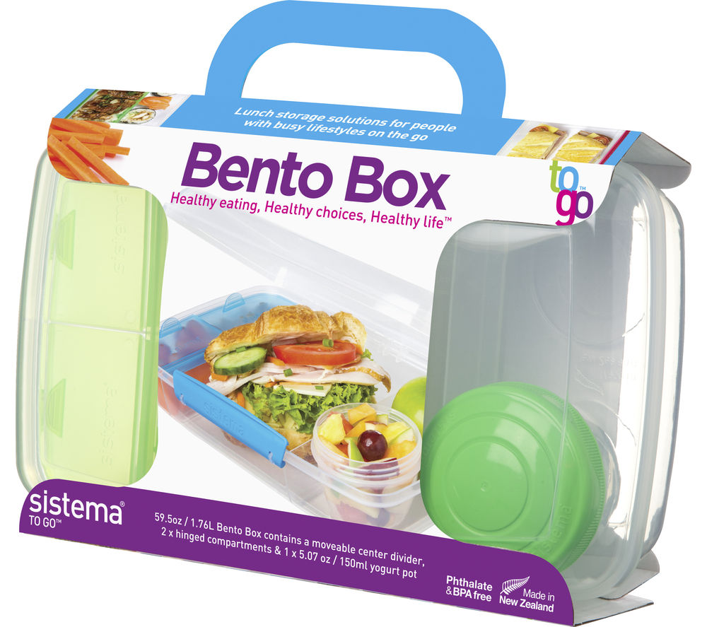 buy sistema bento box to go rectangular lunchbox clear free delivery currys. Black Bedroom Furniture Sets. Home Design Ideas