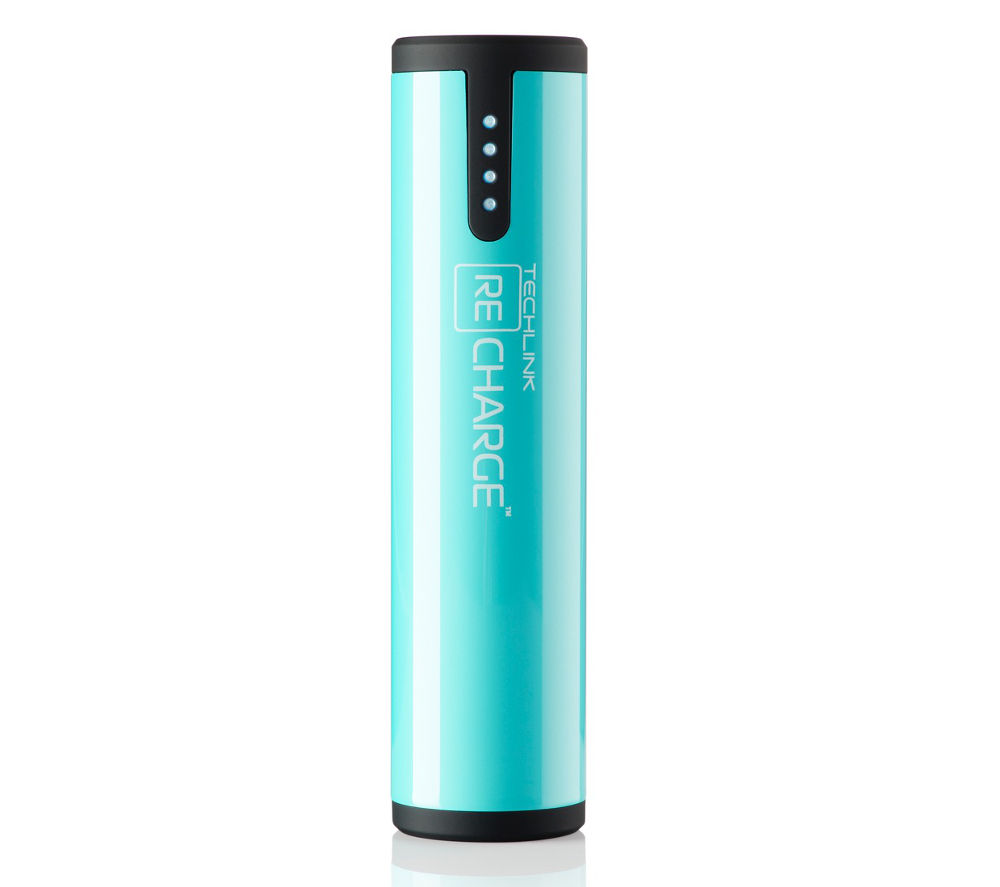 TECHLINK  Recharge 3400 Portable Power Bank - Turquoise, Turquoise at PC World, UK