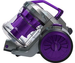 RUSSELL HOBBS RHCV2103 Cylinder Bagless Vacuum Cleaner - Gunmetal Grey & Purple
