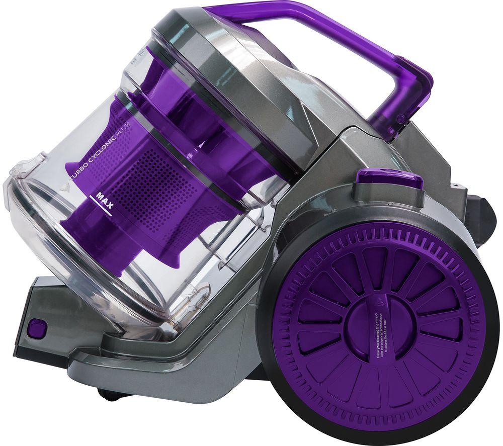 RUSSELL HOBBS  RHCV2103 Cylinder Bagless Vacuum Cleaner  Gunmetal Grey & Purple Grey