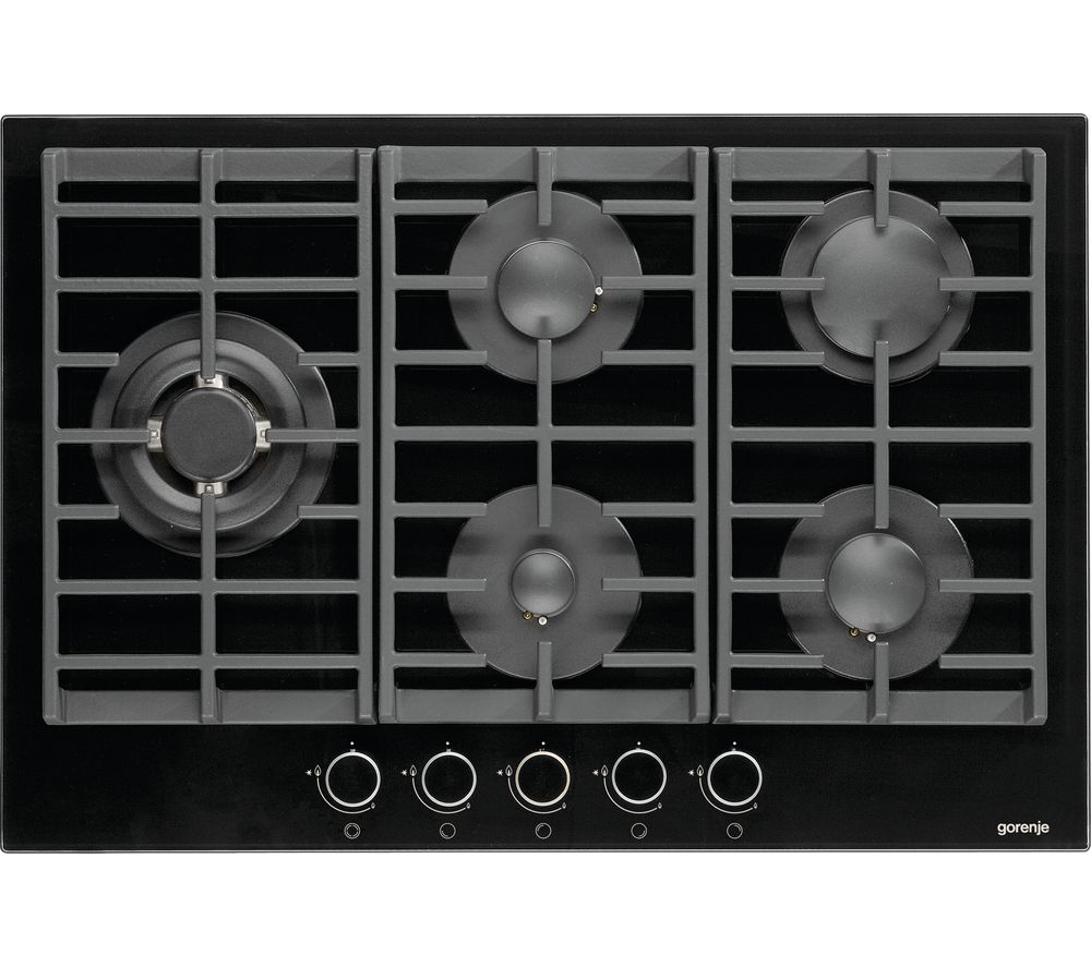 GORENJE  GW761UX Gas Hob  Stainless Steel Black