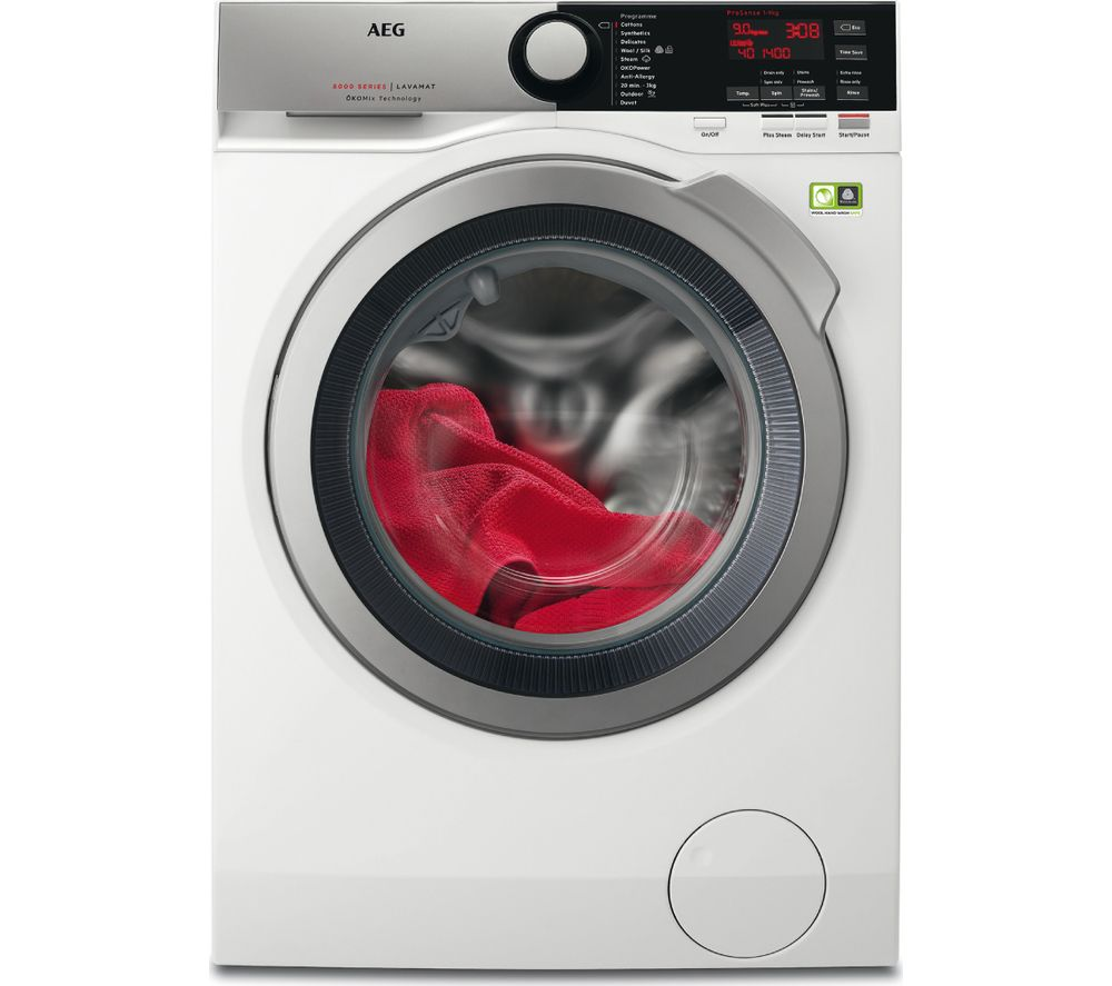 AEG OkoMix L8FEE965R 9 kg 1600 Spin Washing Machine  White White