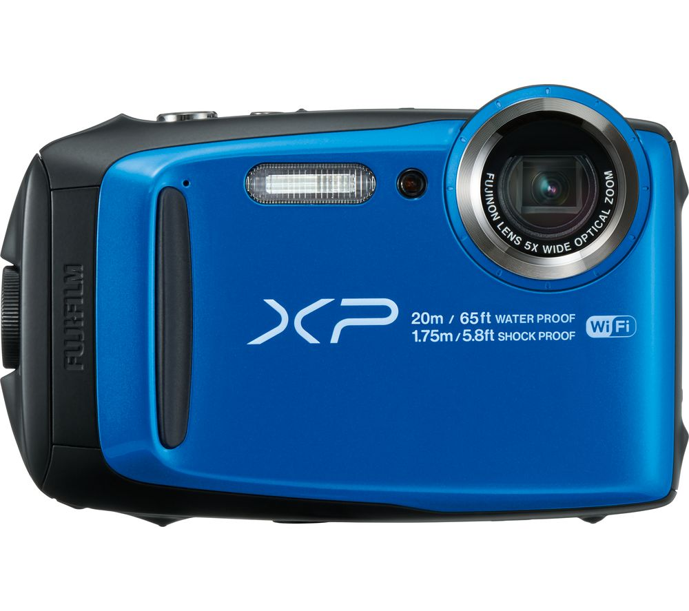FUJIFILM XP120 Tough Compact Camera - Blue + Camera Case - Black + Extreme Plus Class 10 SD Memory Card Twin Pack - 16 GB