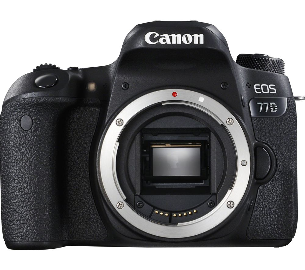 CANON EOS 77D DSLR Camera - Black, Body Only
