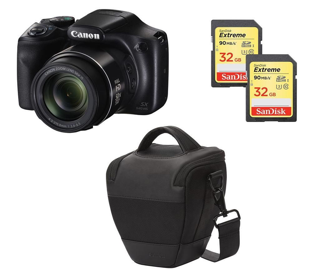 Canon Canon PowerShot SX540 HS Bridge Camera & Accessories Bundle