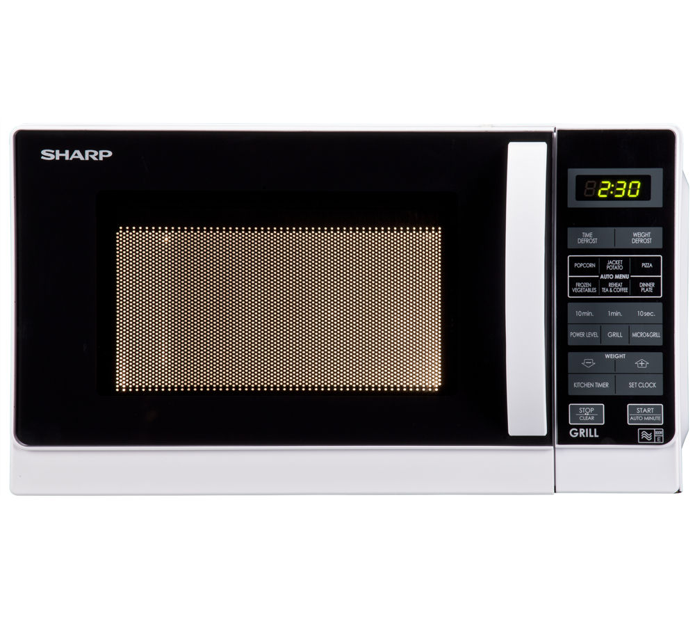 SHARP  R662WM Microwave with Grill - White +  Round 2.6-litre Rice Steamer