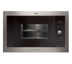 AEG MCD1763E-M Built-in Microwave with Grill - Stainless Steel