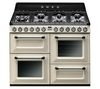 SMEG TR4110P1 Dual Fuel Range Cooker - Cream & Black